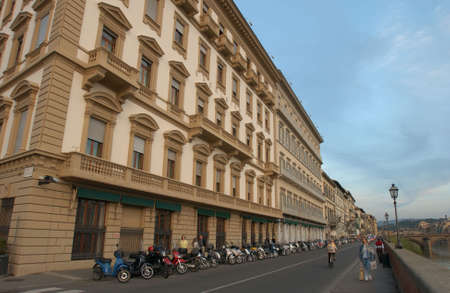 architectural detailing: Street of  Florence Italy Stock Photo