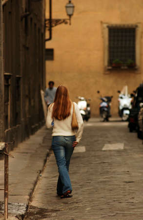 panache: Street of  Florence Italy Stock Photo