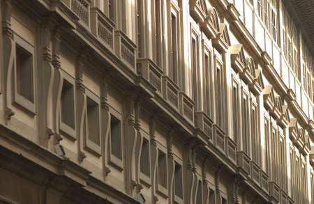 architectural detailing: Uffizi Gallery in Florence Italy