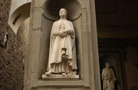 Einbuchtung: Uffizien in Florenz Italien