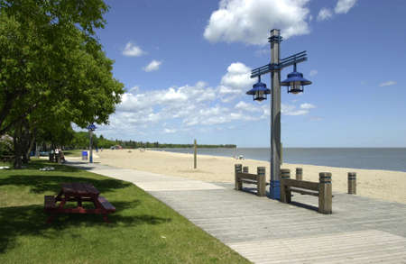 gimli: Beach - Gimli, Manitoba Stock Photo