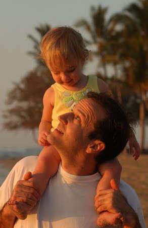 leasure: Famiglia sulla spiaggia - Hawai