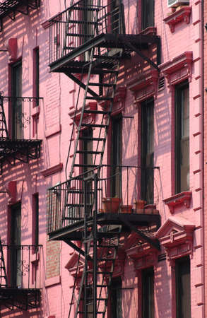 escapes: New York City - A Pink Building in Soho Stock Photo