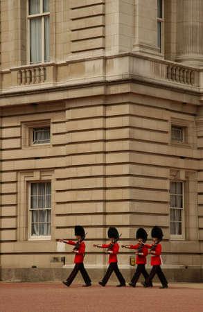 Changing of the Guard at Buckingham Palace, London England photo
