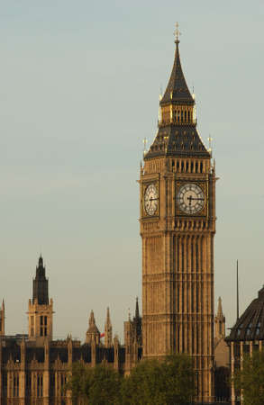 grandiose: Big Ben -  Houses of Parliament, London England Stock Photo