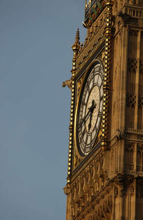 sightseers: Big Ben -  Houses of Parliament, London England Stock Photo