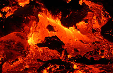 scorching: Lava flow - Volcano National Park - Hawaii