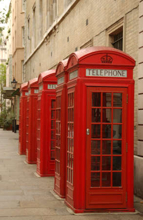 cabina telefonica: Cabina de tel�fono, Londres Inglaterra Foto de archivo