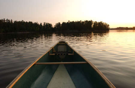 Canoe Trip - Lake of the Woods Stock Photo