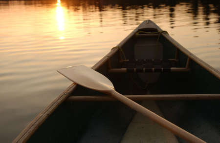 Canoe Trip - Lake of the Woods Stock Photo