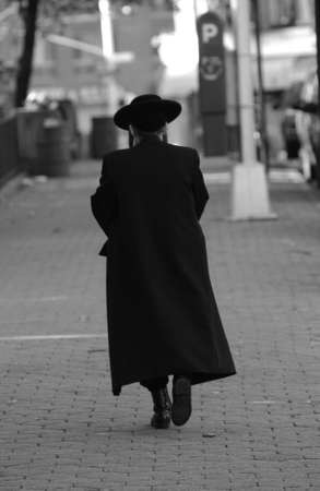 New York City - Lower east side - A Chasid Walking photo