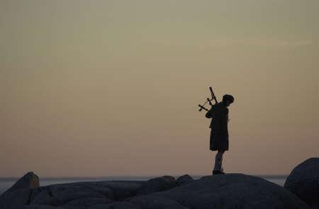 gaita: Nueva Escocia, Canad�  Foto de archivo