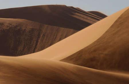 shadowed: Sand Dunes of Sossusvlei - Namib desert, Namibia
