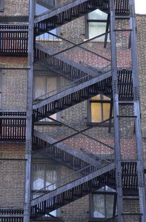 huir: Salida de incendios, los edificios en la ciudad de Nueva York