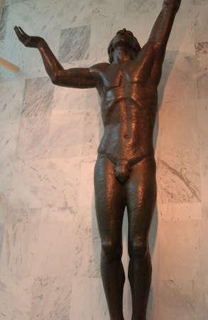 naked statue: Rochester, Minnesota Stock Photo