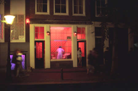 prostitution: Amsterdam, The Netherlands - Red Light District Stock Photo