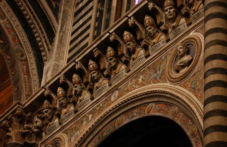 busts: Siena, Italy - Tuscany Editorial