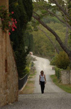 tuscana: Villa - Tuscany, Italy Stock Photo