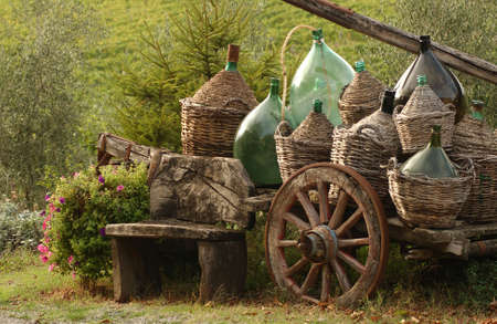 tuscana: Vineyards - Tuscany, Italy Stock Photo