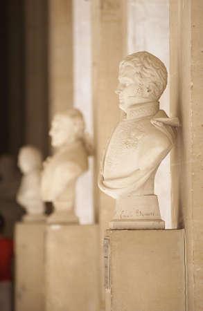 busts: Chateau de Versailles, France