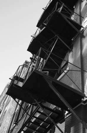 escapes: Black and White Photograph of Winnipeg classic architecture