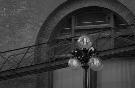 ironworks: Black and White Photograph of Winnipeg classic architecture