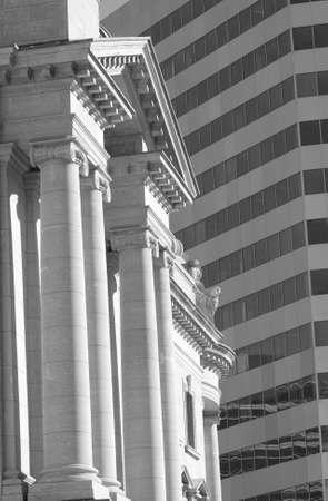 Black and White Photograph of Winnipeg classic architecture photo