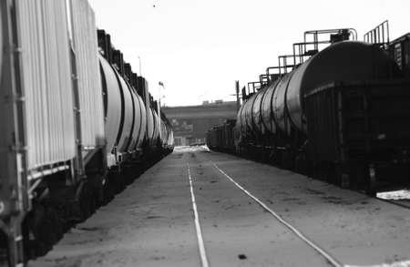 industrialized: Rail Yard - Winnipeg, Manitoba, Canada in winter