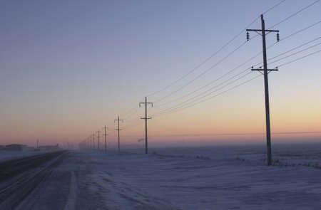 winter in Manitoba, prairie scene Stock Photo - 186255