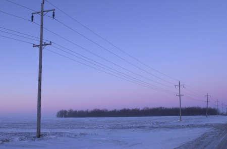 winter in Manitoba, prairie scene Stock Photo - 186256