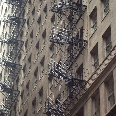 establishment states: Fire escape of a high-rise building