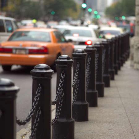 establishment states: Traffic on a street