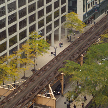 establishment states: High angle view of railway tracks