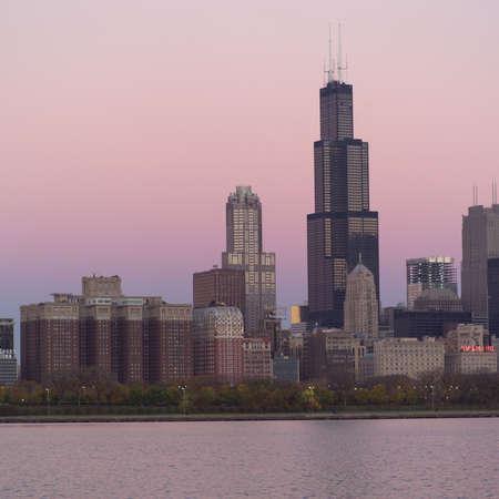 establishment states: High-rise buildings in Chicago