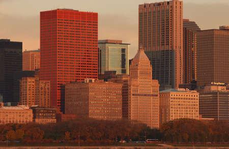 cna: Edificios altos de la subida en Chicago