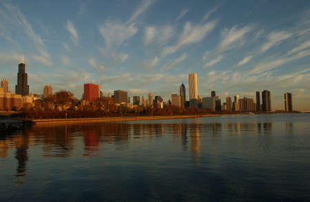 establishment states: High rise buildings in Chicago Stock Photo