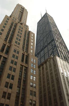 john hancock: John Hancock Building in Chicago Stock Photo