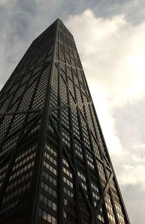 establishment states: John Hancock Building in Chicago Stock Photo