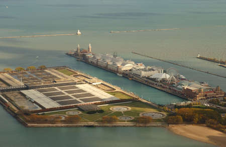 establishment states: Aerial View of Chicago Stock Photo