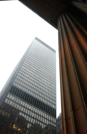 establishment states: Low angle view of a high-rise building Stock Photo