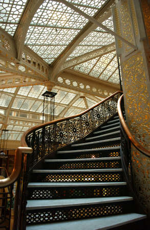 establishment states: A ornate staircase in Rockery Building