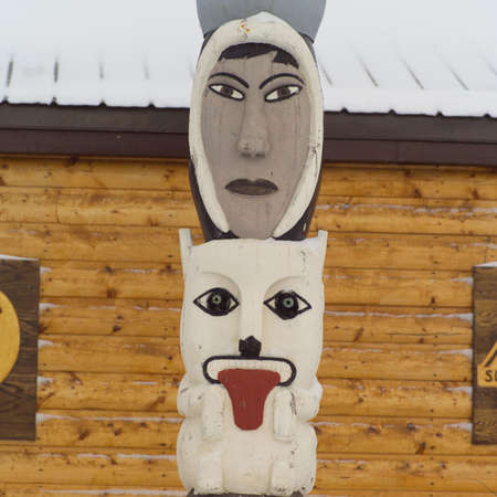 churchill: Churchill - Northern Manitoba, Faces on Totem Pole