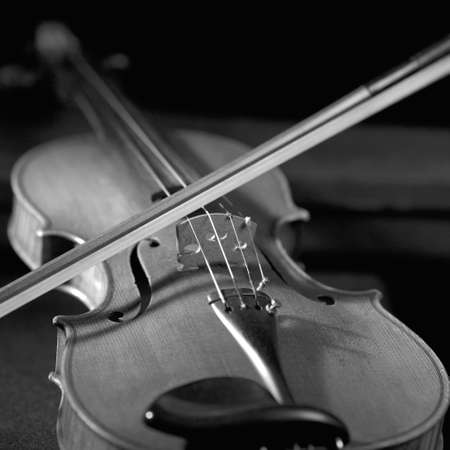 Violin with bow Stock Photo - 227414