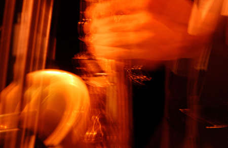 tuneful: Blurred image of a Saxophone Stock Photo