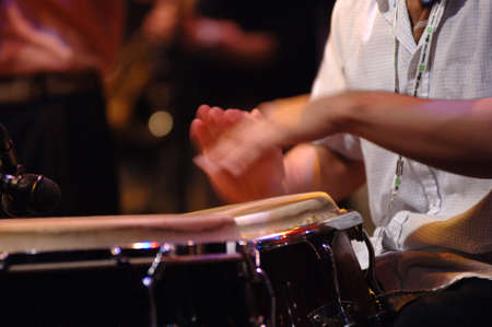 tuneful: Musician playing the drums