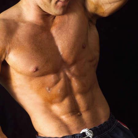 Male bodybuilder posing Stock Photo - 254382