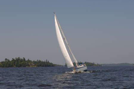 Sailboat at Lake of the Woods Stock Photo - 254552