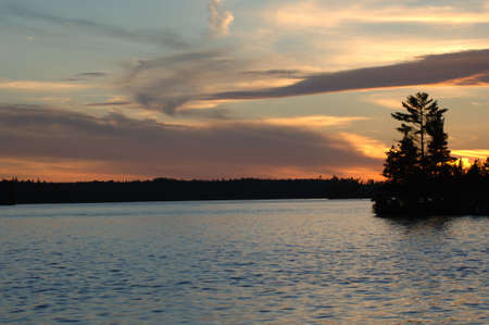 Lake of the Woods at twilight Stock Photo - 254567