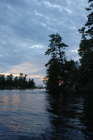 Lake of the Woods at twilight Stock Photo - 254578