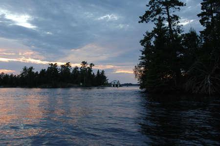 Lake of the Woods at twilight Stock Photo - 254579